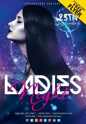 Free Ladies Friday Night PSD Flyer Template