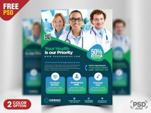 Free Medical and Health Flyer PSD