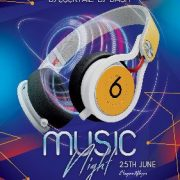 Free Music Night Event PSD Flyer