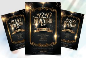 Free New Year 2020 Flyer Template