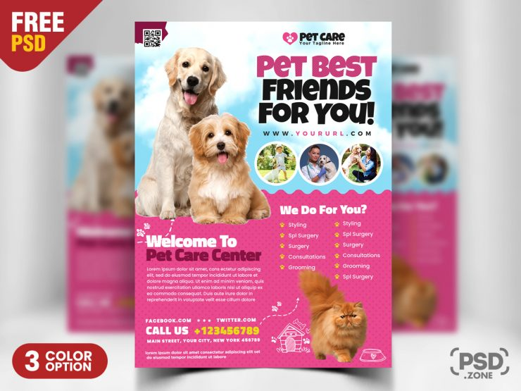 Free Pet Care Flyer Template
