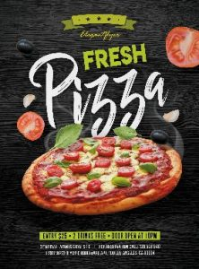 Free Pizza Party – PSD Flyer Template