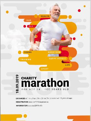 Free Run Marathon PSD Flyer Template