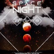 Free Space Night PSD Flyer Template