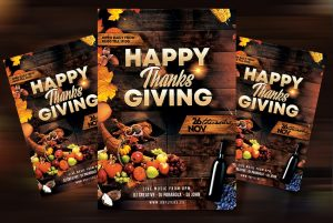 Free Thanksgiving Day Flyer