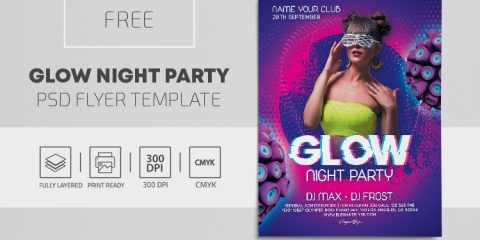 Glow Vibe Free PSD Flyer Template