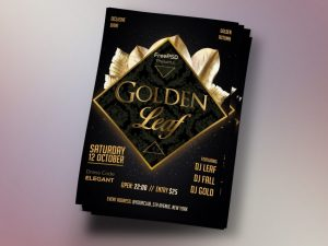 Gold Event Freebie PSD Flyer Template