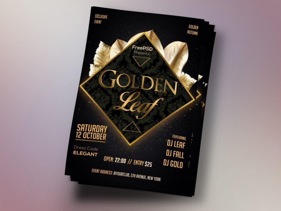 Gold Event Freebie PSD Flyer Template