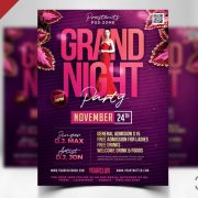 Grand Party Frebei PSD Flyer Template