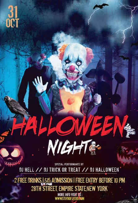Halloween Day Free PSD Flyer Template