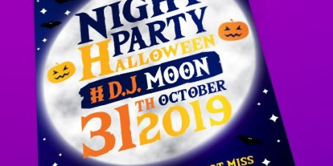 Halloween Night PSD Flyer Template