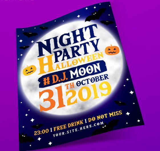 Halloween Night PSD Flyer Template