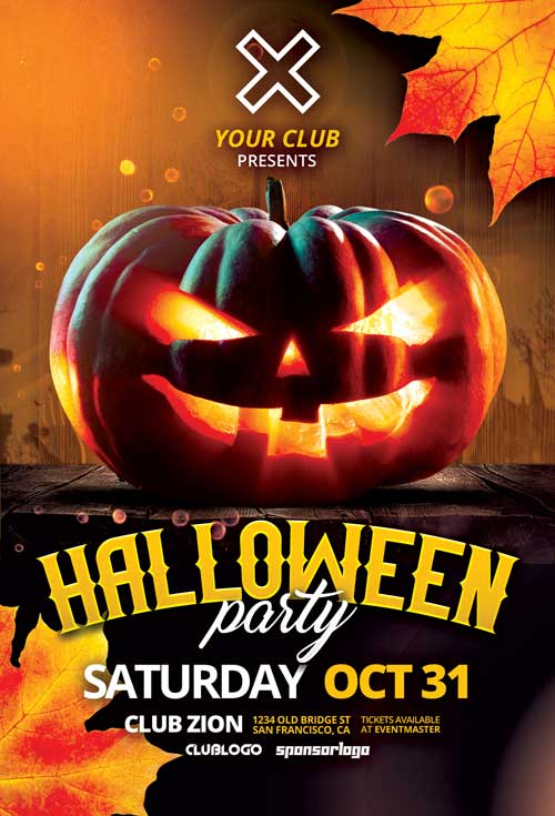 Halloween Night Party Free Flyer