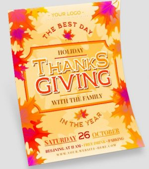 Holiday Thanksgiving Free Flyer Template
