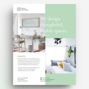 Interior Design PSD Free Flyer Template