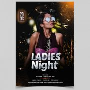 Ladies Vibe Free Party PSD Flyer Template