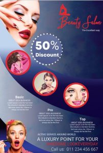 Makeup Salon Flyer Template