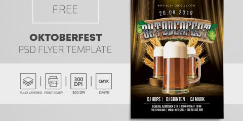 Oktoberfest Day Free PSD Flyer Template