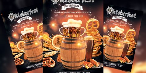 Oktoberfest Events Free PSD Flyer Template