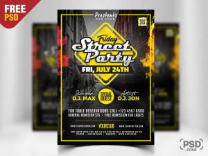 Party in Street Free PSD Flyer Template