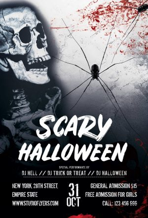 Scary Event for Halloween Free PSD Flyer Template