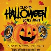 Scary Halloween PSD Flyer Template for Free