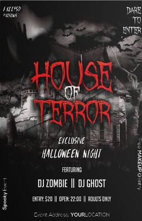 Scary House Free PSD Flyer Template