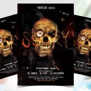 Skull Halloween Free PSD Flyer Template