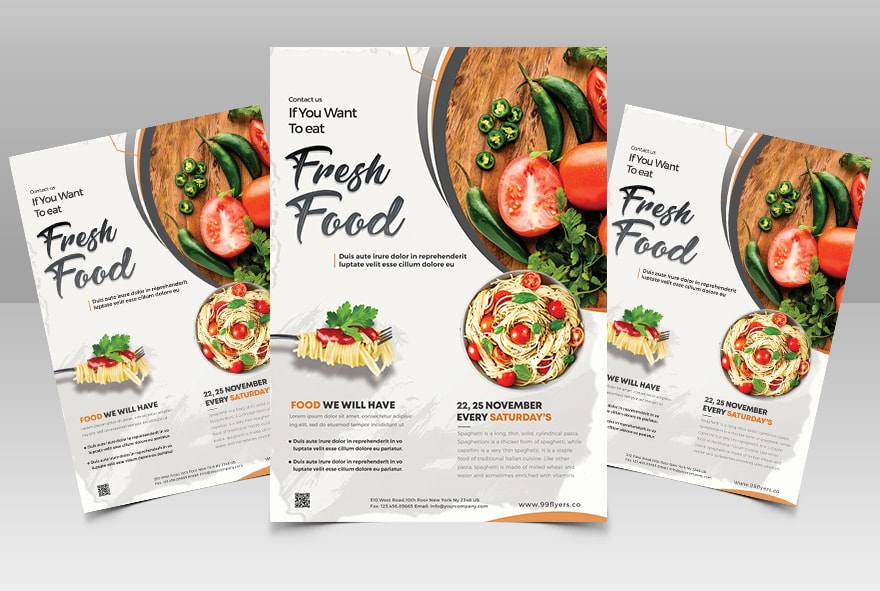 Special Fresh Food Free PSD Flyer Template