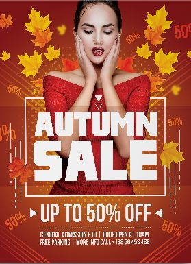 Special Sale for Autumn – Free PSD Flyer Template