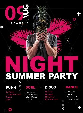 Summer Night Event – Free PSD Flyer Template