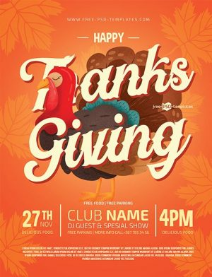 Thanksgiving Flyer Template for Free
