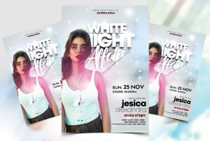 The White Night Free PSD Flyer Template
