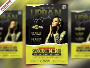 Urban Music Free PSD Flyer Template