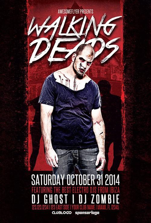 Walking Dead Event Free Flyer Template