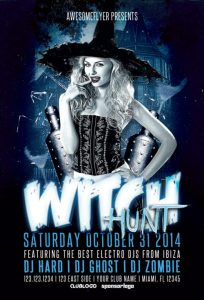 Witch Halloween Event Free Flyer Template