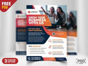 Corporate Flyer PSD for Free
