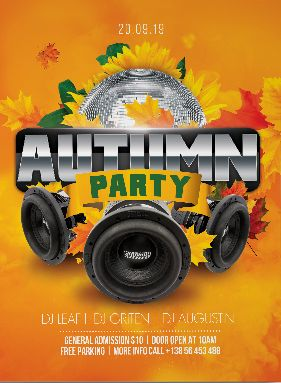 Free Autumn Event Flyer Template