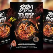 Free BBQ Party PSD Flyer