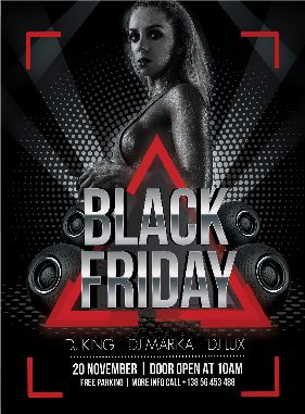 Free Black Friday PSD Flyer
