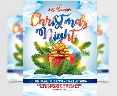 Free Christmas Night Party Flyer Template