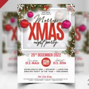 Free Christmas Party Flyer Design PSD