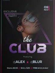 Free Club Event PSD Template
