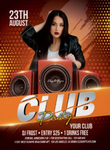 Free Club Party Flyer Template PSD