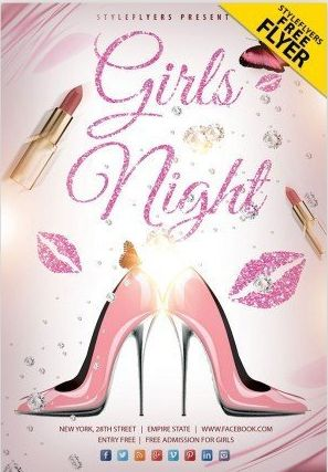 Free Girls Night Flyer Template