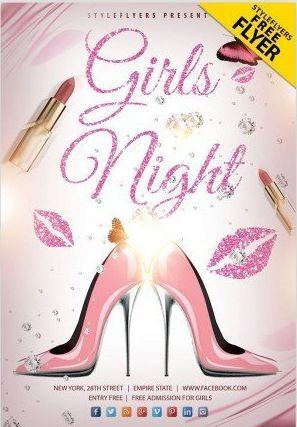 Free Girls Night Flyer Template
