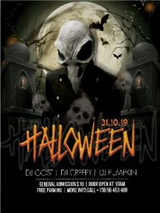 Free Halloween PSD Flyer Template