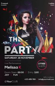 Free Ladies Party Flyer Template