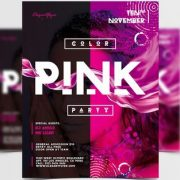 Free Pink Party PSD Flyer Template