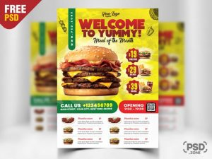 Free Restaurant Flyer PSD